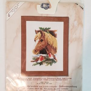 Counted Cross Stitch Kit Horse Birds Verachtert